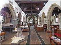 TQ0682 : St John the Baptist, Hillingdon - East end by John Salmon