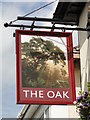 TM0558 : Hanging sign of 'The Oak' Ipswich Street, Stowmarket by Adrian S Pye