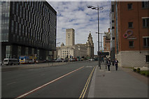 SJ3390 : Liverpool near the Liver Building by Malcolm Neal