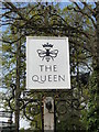 TM2460 : Hanging sign for 'The Queen' by Adrian S Pye