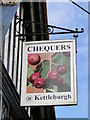 TM2660 : The hanging sign of 'The Chequers' at Kettleburgh by Adrian S Pye