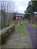 NN3825 : Former railway line, Crianlarich by Thomas Nugent