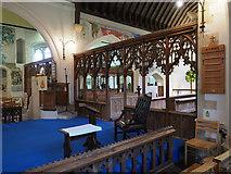TR0149 : St Cosmas & St Damian, Challock - Interior by John Salmon
