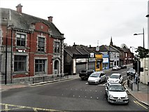 J4844 : St Patrick's Avenue at its junction with Market Street, Downpatrick by Eric Jones