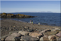 NS2515 : The rocky Ayrshire coast by Malcolm Neal