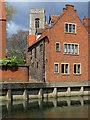 TG2308 : Norwich: across the Wensum near Fye Bridge by John Sutton