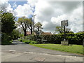 TG0403 : Hardingham village sign at the junction with Beech Lane by Adrian S Pye