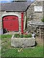 SH4384 : Old water pump at Llwydiarth Esgob Farm, Llanerchymedd by John S Turner