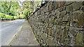 J3067 : Boundary wall, Upper Malone Road, Dunmurry (April 2017) by Albert Bridge
