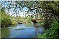 SU7468 : River Loddon at Arborfield by Des Blenkinsopp