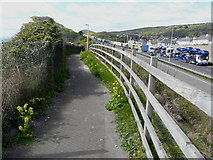 TR3140 : Long queue of waiting traffic on the A20 by John Baker