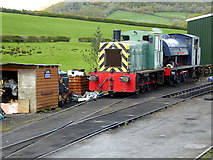 SN4124 : In the station yard, Bronwydd Arms by John Lucas
