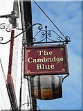TL4658 : The Cambridge Blue sign by Richard Sutcliffe