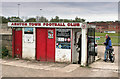 SJ5899 : Turnstile at Edge Green Street, Ashton Town FC by Nick Harling