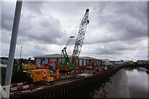 TA1031 : River defence work by Ian S