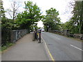 TQ1467 : Two bridges over the River Mole, East Molesey by Jaggery