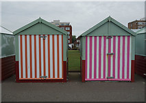 TQ2704 : Beach huts, Hove by Julian Osley