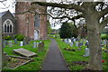 ST6258 : In the churchyard at Clutton by David Martin