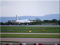 SJ8184 : Touchdown at Manchester by David Dixon