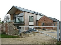 TG3204 : Broad Hall farmhouse - the new extension by Evelyn Simak