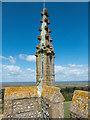 TG0343 : Lightning Conductor on Church Tower, St Nicholas Parish Church, Blakeney, Norfolk by Christine Matthews