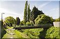 SK9669 : Footbridge over Catchwater Drain by Julian P Guffogg