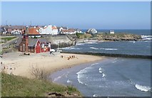 NZ3671 : Cullercoats Bay with its Lifeboat Station by Russel Wills