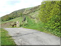 SE0827 : Track into access land off Halifax Bridleway 428 by Humphrey Bolton