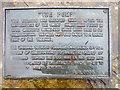 TF9336 : Information Plaque on the Pump, Walsingham, Norfolk by Christine Matthews
