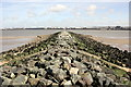 SJ3291 : Egremont Breakwater by Jeff Buck