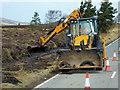 NJ0133 : Dava Moor, Ditch Clearing by David Dixon