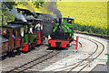 SK2406 : Statfold Barn Railway - passing trains by Chris Allen