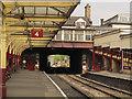 SE0641 : KWVR - Keighley station platform 4 by Stephen Craven