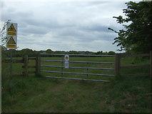 TM0221 : Field entrance off Furneaux Lane by JThomas