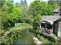 NY3307 : River Rothay in the village of Grasmere by G Laird
