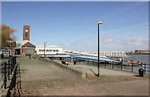 SJ3290 : Seacombe Ferry Terminal and Promenade by Jeff Buck