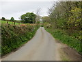 SW4131 : Road to the east of Bosvenning and Roskennals Common by Peter Wood