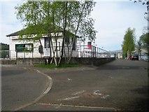 NS3882 : Balloch Pier railway station (site), West Dunbartonshire by Nigel Thompson
