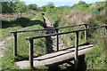 SO1900 : Footbridge on overflow channel, Pen-y-Fan Pond by M J Roscoe