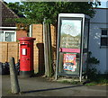 TM0621 : Elizabeth II postbox and telephone box on the B1027, Alresford by JThomas