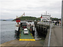 NM8529 : 2 Ferries unloading vehicles at the Oban Ferry Terminal by G Laird