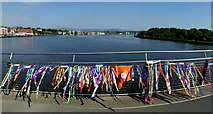 C4316 : Streamers, The Peace Bridge, Derry / Londonderry by Kenneth  Allen