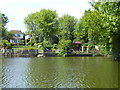 TQ5189 : Gardens in Lake Rise seen from Raphael Park by Marathon