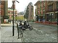 SE2934 : Motorcycle stands, Cookridge Street, Leeds by Stephen Craven