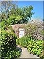 TQ4906 : Gate in Walled Garden at Charleston by PAUL FARMER