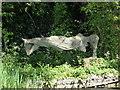 TQ4906 : Sculpture in Garden at Charleston by PAUL FARMER