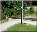 SO8405 : Stroudwater Canal signpost, Stroud by Jaggery