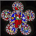 SK8386 : Oculus, east window, St Helen's church, Lea by Julian P Guffogg