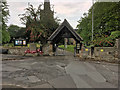 SK3027 : Lychgate and War Memorial, St Wystan's Church by David Dixon