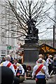 SJ8398 : Morris dancing by the Boer War memorial, St Ann's Square by N Chadwick